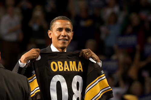 Political Physics: The Polamalu- Obama Game Theory