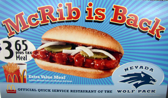 The Ryan Dixon Line: The Five Reasons Why the McRib is the Greatest Fast Food Item of All Time (Revised and Updated 2010 Edition)