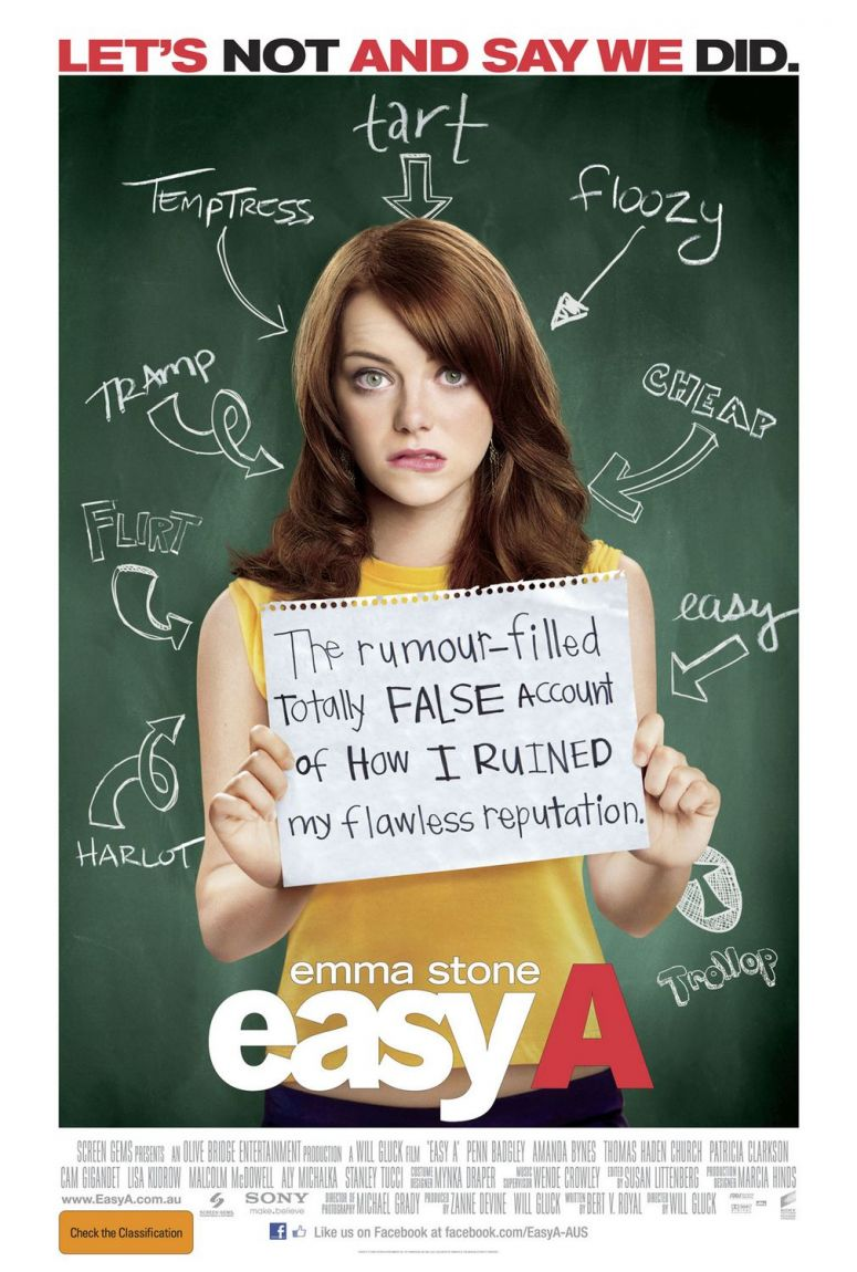 Book Simple: EASY A vs THE SCARLETT LETTER