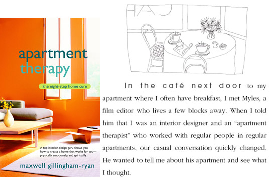 Dear Thursday: APARTMENT THERAPY by Maxwell Gillingham-Ryan [Book 2 of 2011]