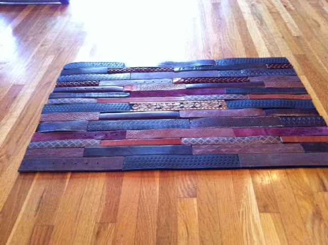 Fashion For The Home DIY Leather Belt Floormat Gal About Town And Travel At Your Fingertips