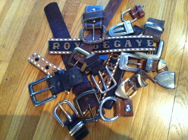 Fashion For The Home: DIY Leather Belt Floormat [Gal About Town: Fashion and Travel at your Fingertips]