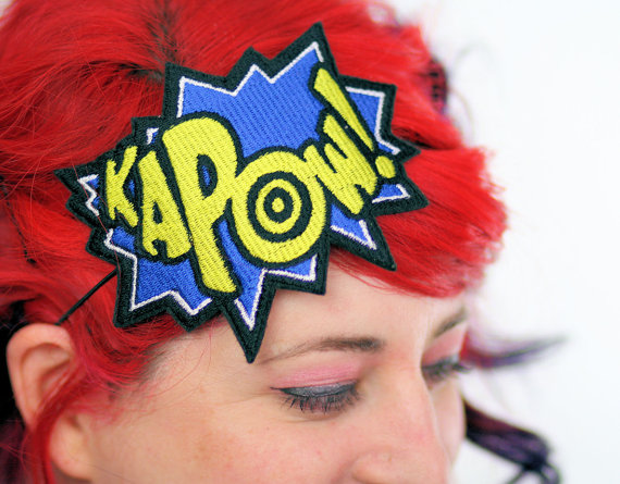 KAPOW! Headband [Nerdy Ish We Found on Etsy]