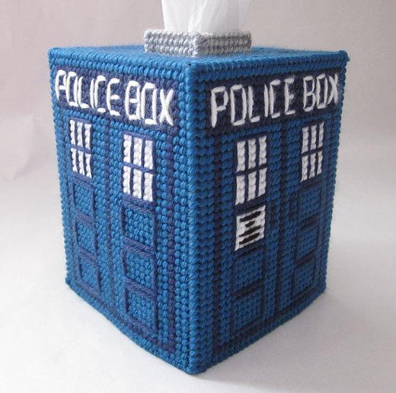 A Tardis Tissue Box [Nerdy Ish We Found on Etsy]