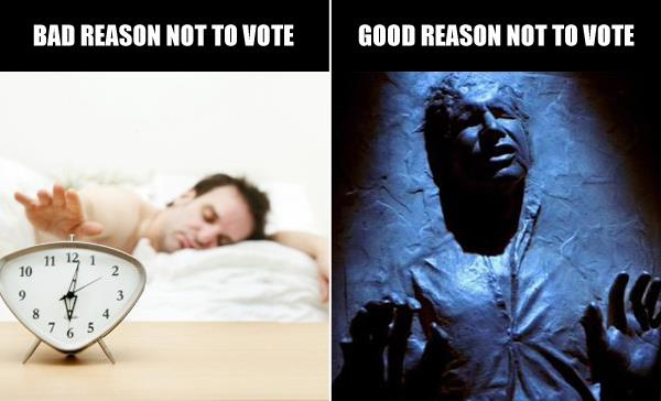 No Excuse Not to Vote Tomorrow — Unless You're Hans Solo [One More Thing Before We Go]