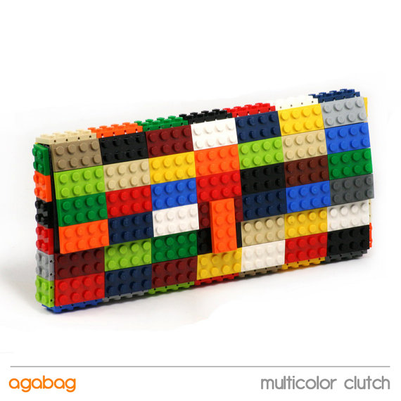 Lego Multicolor Clutch [Nerdy Ish We Found on Etsy]