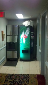 A still operating 7 Up vending machine inside the Four Queens Hotel & Casino, Las Vegas, Nevada