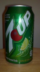 The current 7 Up can design as recently purchased at a New Jersey grocery store.