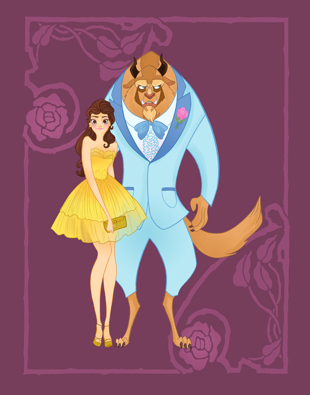 disney-prom-beauty-and-the-beast