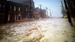 Johnstown, Pennsylvania floods again in 1977.