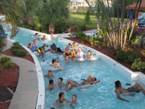 The lazy river at the Cape Coral Water Park.