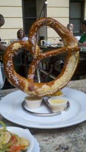 A giant pretzel from Doc's Oyster House at Bally's Atlantic City.